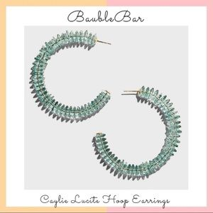 BaubleBar • Caylie Lucite Hoop Earrings